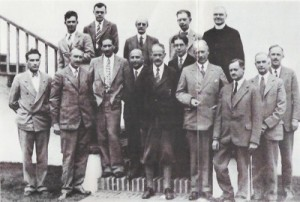 Meeting of world seismologists at the California Institute of Technology, Seismological Laboratory in 1929.